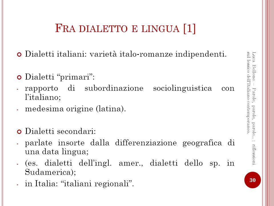 Fra dialetto e lingua [1]